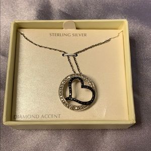 Jewelry - NIB Sterling Silver and Diamond Accent Necklace